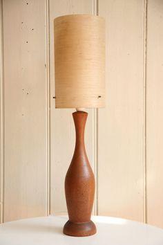Teak totem - bedside lamp