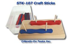 Stacking Craft Sticks with Holes Activity