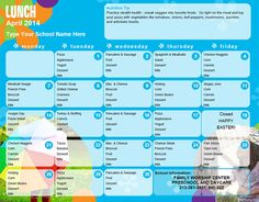 1000 ideas about daycare menu on pinterest lunch menu for Child care menu templates free