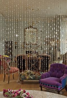 Beaded Curtains for Bedroom | Beaded Curtain Photos, Design, Ideas, Remodel, and Decor - Lonny