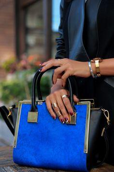 Burgundy & silver nails