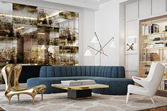 A rendering of Mr. Beriestain's design for a Hyatt hotel lobby My Living Room, Living Room Interior, Living Room Decor, Living Spaces, Interior Livingroom, Luxury Sofa, Luxury Furniture, Furniture Design, Furniture Makers