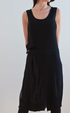NFP  knit tank dress w/ felted hem silk inset  http://nfpstudio.com/lookbook/series-5-fw2011/look-o/