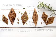 Blend a bunch of seeds to make the tastiest snacks ever! Join me! Eat a happy cracker.