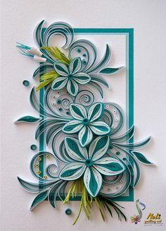 Neli Quilling Art: Quilling card (14.8 cm - 10.5 cm )
