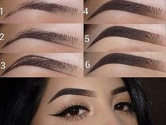 Eyebrow tutorials - - Eyebrow tutorials Beauty Makeup Hacks Ideas Wedding Makeup Looks for Women Makeup Tips Prom Makeup ideas. Eyebrow Makeup Tips, Makeup 101, Makeup Eye Looks, Skin Makeup, Makeup Inspo, Eyeshadow Makeup, Makeup Inspiration, Beauty Makeup, Makeup Ideas