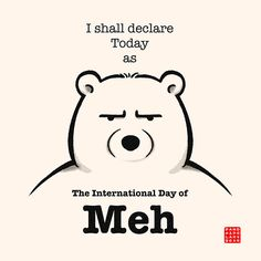 The International Day Of Meh