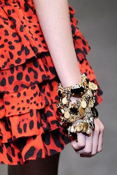 Dolce & Gabbana Spring 2010 Pearl and Coin Gold Bracelet Profile Photo
