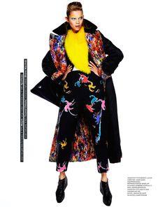 visual optimism; fashion editorials, shows, campaigns & more!: le freak c'est chic: anouk de heer by klaas jan kliphuis for marie claire netherlands september 2014