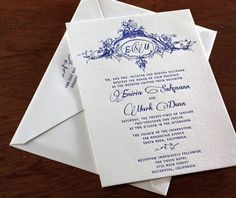 intricate engraved design up top is the only attractive thing. New Wedding Invitation Design: Emiria  Emiria Letterpress Wedding Invitation Photo