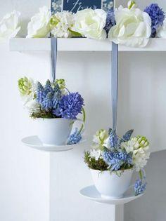 Cups full of spring! Hyacint, muscari