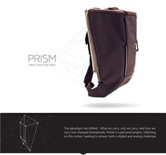 Prism is interesting project for city commuters featuring polycarbonate frame, solar charger and lights for bikers.