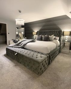 Bedroom Decor Master For Couples, Cute Bedroom Ideas, Girl Bedroom Designs, Master Bedroom, Dorm Room Styles, Bedroom Styles, Bedroom Makeovers, Farmhouse Bedroom Decor, Home Decor Bedroom
