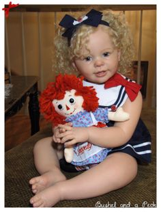 Katie Marie by Anne Timmerman with cloth body - Online Store - City of Reborn Angels Supplier of Reborn Doll Kits and Supplies