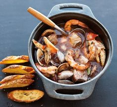 Wouldn't a big pot of Seafood Gumbo hit the spot right now? Yessss. ~~ Houston Foodlovers Book Club