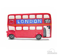 (personalized?) double decker bus magnets