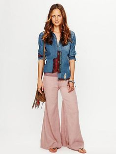 FP ONE Solid Gauze Hippie Pant  www.freepeople.co...      I want these!!