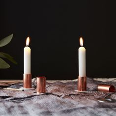 DIY Metallic Candlesticks That'll Only Run You $1 Each on Food52