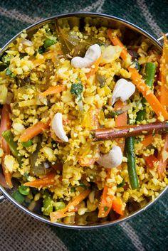 Cauliflower 'rice' biryani