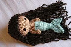 crocheted mermaid.