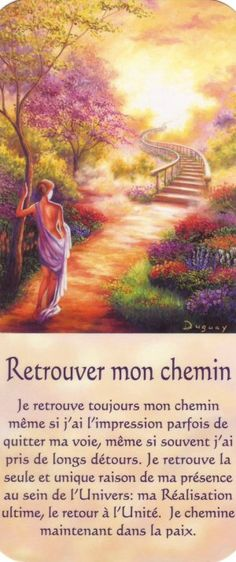 retrouver mon chemin + texte Mario, Simple Reminders, Yoga Quotes, Oracle Cards, Osho, Faith In God, Positive Attitude, Christian Life, Yoga Meditation