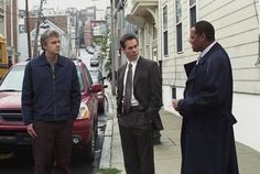 Kevin Bacon, Tim Robbins and Laurence Fishburne in Mystic River