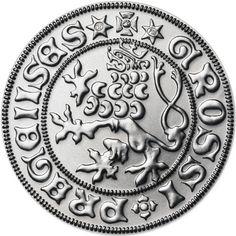 Stříbrná replika pražského groše Ladislava Pohrobka ve formátu 2 dukátu 2d, Personalized Items