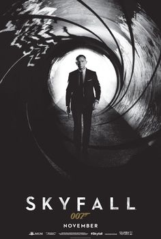 James Bond's Skyfall poster.