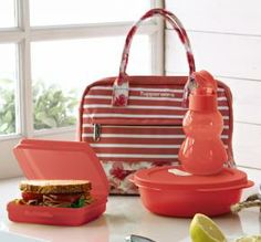Sweet and Sassy Lunch n set Open A Party, Tupperware Consultant, Kids Plates, Cool Lunch Boxes, Pulled Pork Recipes, Lunch Tote, Sale Items, Sassy, Water Bottle