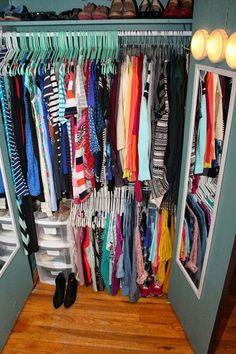 Organizing the World's Smallest Closet - small closet organizing ideas