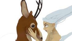 #deer #girl #quill #quillustration #kurtchangart #animvr #animation #vrpainting #vr #oculusrift #surrealism #surrealart #art #wind #artist