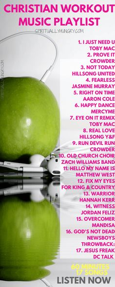A great list of Christian workout music! Get your heart beating and your feet moving with this lively list of great songs by Christian artists. Keeping your mind on truth and uplifting words will help you have a great work out that not only benefits your