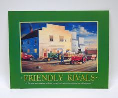 `FRIENDLY RIVALS` 11x14 print by Charles Freitag