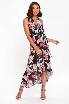 Wallis - Petite Black Floral Maxi Dress - 2017
