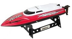 Venom Remote Control Boat for Pools Lakes and Outdoor Adventure High Speed Electric RC includes BONUS BATTERY Doubles Racing Time Exclusive Red Color *** You can find out more details at the link of the image. Rc Cars For Sale, Boats For Sale, Remote Control Boat, Radio Control, Nitro Boats, Boat Radio, Racing, High Speed