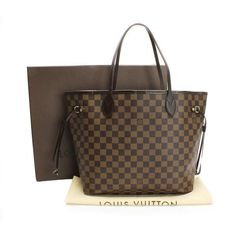 Louis Vuitton Neverfull MM Damier Ebene Shoulder bags Brown Canvas N51105