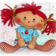 Rag Doll & Softie Patterns to Sew Soft Toys & Animals / Lil Christmas Dollin