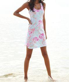 Lilly Pulitzer Cordon Racerback Tank Top Dress in Jellies Be Jammin