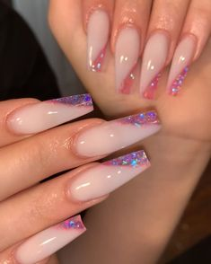 20 latest trendy pink color coffin nails styles in autumn and winter - ibaz if you like pink color coffin nails styles or long nails styles, it must be useful for you, we collected about 20 pink color coffin nails st Aycrlic Nails, Glam Nails, Pink Tip Nails, Cute Pink Nails, Nail Pink, Colorful Nails, Pastel Nails, Summer Acrylic Nails, Best Acrylic Nails