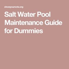 Pool Maintenance Checklist