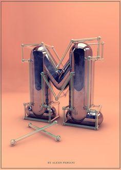 3D alphabet by Alexis Persani