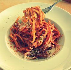 spaghetti all'amatriciana Per Amatrice <3