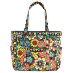 Get Carried Away Tote in Flower Shower
