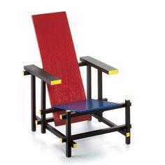 Vitra Design Museum Shop | Miniatur Rood blauwe stoel Ritveld