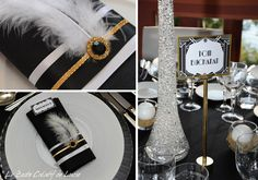art deco feather wedding invitations - Google Search