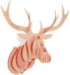 Trophée animal Bakker Made With Love Cerf Girafe décoratif en carton chez Bianca and Family