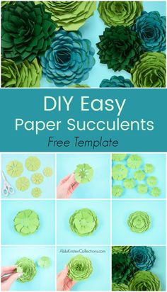 The right way to make paper succulents. Step-by-step paper succulent flower tutorial. Obtain your free paper succulent templates right here. Printable PDF recordsdata and SVG minimize recordsdata included. Large Paper Flowers, Tissue Paper Flowers, Paper Roses, Felt Flowers, Diy Flowers, How To Make Paper Flowers, Flower Paper, Free Paper Flower Templates, Paper Flower Tutorial