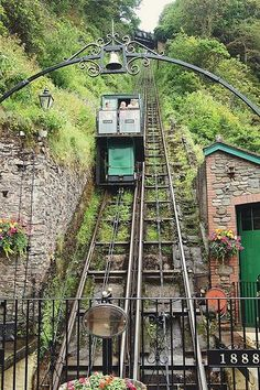 England Travel Inspiration - Cliff Railway Lynmouth below, Lynton up the top, been on this many times, saves a steep walk. Jx