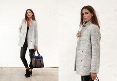 Fall collection 2013 by SÉZANE / SEZANE by Morgane Sezalory http://www.sezane.com  Bogart grey coat // Hunter boots // Phenix bag