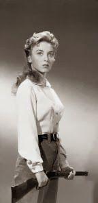 Marshal Rose Hood (Beverly Garland) in Gunslinger, 1956, directed by Roger Corman and starring John Ireland.